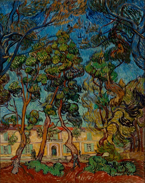 Hospital at Saint-Rémy (1889) by Vincent van Gogh. (Hammer Museum, Los Angeles/the Armand Hammer Collection)