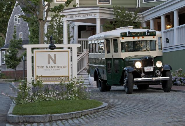 An old-fashioned bus at The Nantucket. (Photo: The Nantucket)