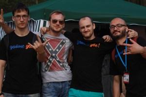 The Tittygram Team, with Vladimir Gritsenko, founder, at far right. Photo: Tittygram