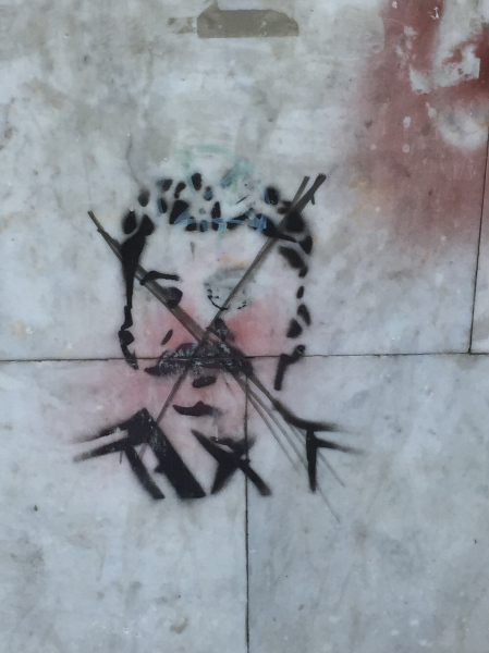 Anti-Stalinist Graffiti in Tbilisi. (Photo by Lincoln Mitchell)