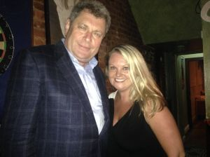 Former Assemblyman Alec Brook-Krasny with his chief-of-staff Kate Cucco.