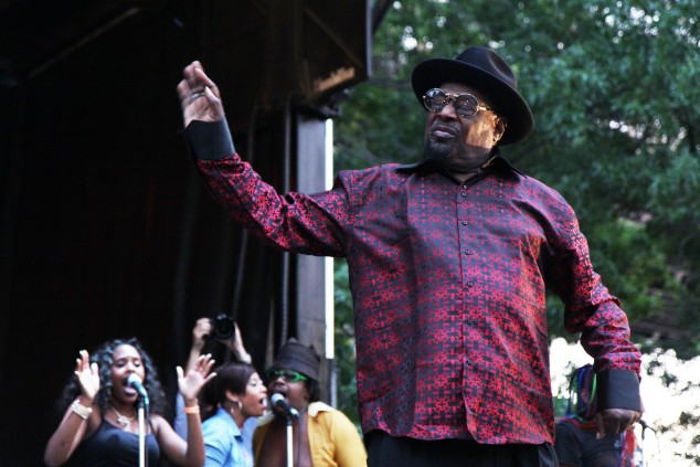 George Clinton brings the funk to Queensbridge Park. (Photo by Justin Joffe/ Observer)