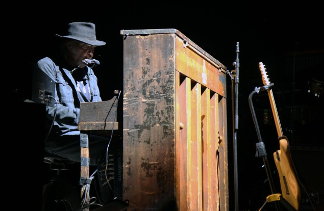 Neil Young at Bethel Woods (Photo by Justin Joffe)