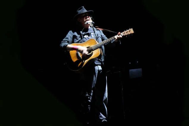 Neil Young at Bethel Woods (Photo by Justin Joffe/ Observer)