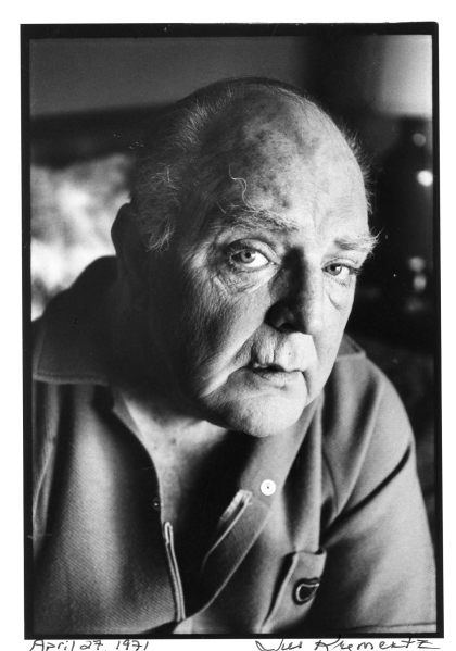 Playwright William Inge photographed by Jill Krementz at his home in the Hollywood Hills on April 27, 1971.