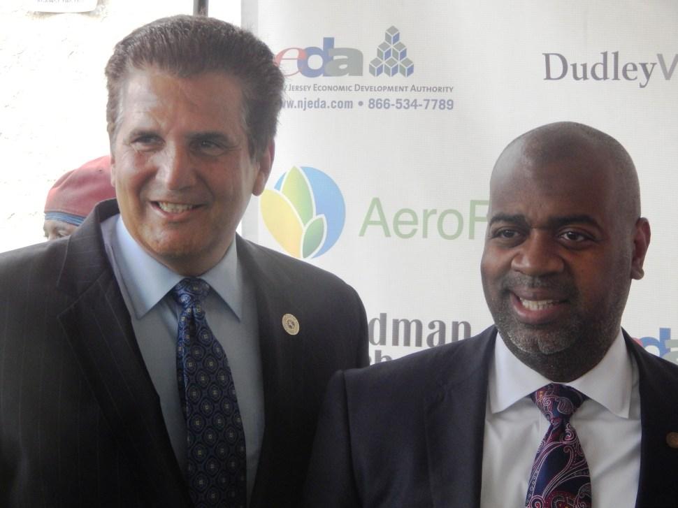 DiVincenzo earlier this month with Newark Mayor RAs Baraka.