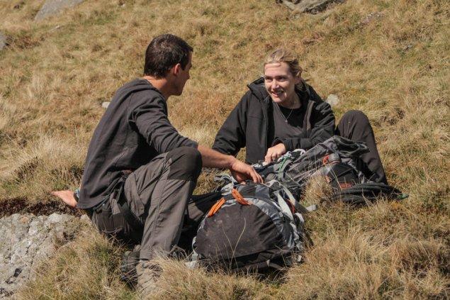 "RUNNING WILD WITH BEAR GRYLLS -- ""Kate Winslet"" Episode 204 -- Pictured: (l-r) Bear Grylls, Kate Winslet -- (Photo by: Mark Challender/NBC)"