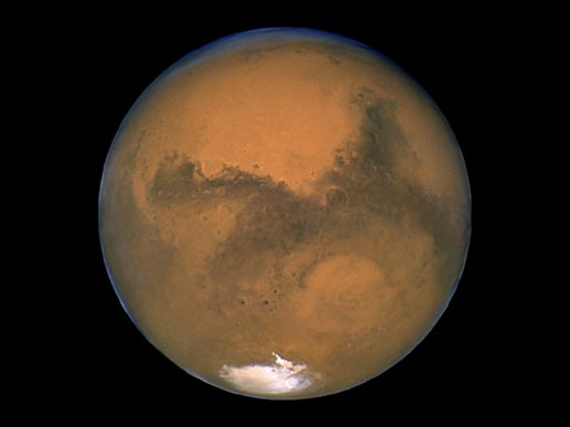 This morning NASA announced it had discovered water on Mars, but online viewers were left hanging because the video stream didn't work. (Photo: NASA)