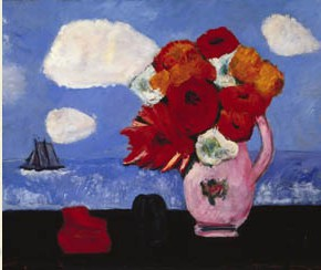 Marsden Harley, summer clouds and flowers, 1942 (Courtesy the Brooklyn Museum)