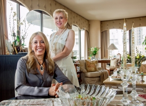 Broker Reba miller (seated) made a video with her seller client, Jacqueline Schneider. (Photo:Melody Melamed/For Observer )