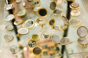 Lockets on display in Soul-Lit Shadows (Photo courtesy of Milk Gallery)