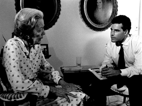 Adubato interviews U.S. Rep. Millicent Fenwick in 1991.