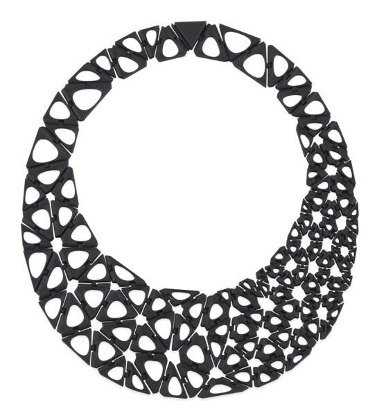 Nervous System, Kinematics Smooth Black Necklace, 2013. (Photo: courtesy MoMA Design Store)