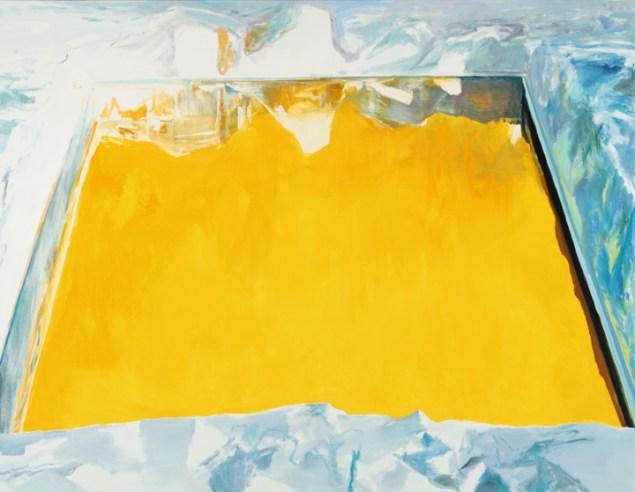 Eric Aho, Ice Cut (Arctic Sky), 2015. (Photo: Courtesy the National Academy Museum)