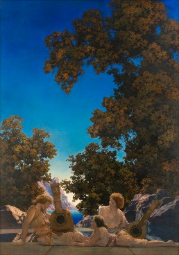 """A Maxfield Parrish exhibition, """"Art of Light and Illusion,"""" is on view at the Fenimore Art Museum in Cooperstown."""