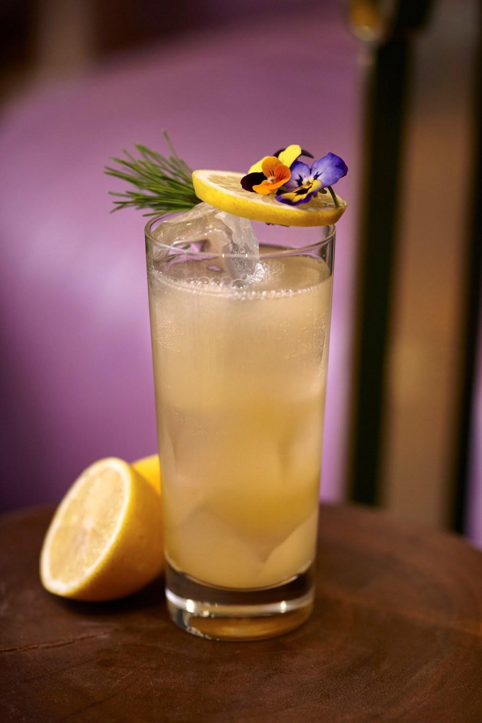 Peach In A Pine Cone Cocktail (Photo: Mondrian London).