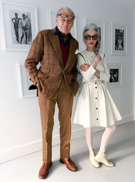 Mr. Peterson and Ms. Rodin at TURN Gallery this summer (Photo by Annika Peterson/Turn Gallery)