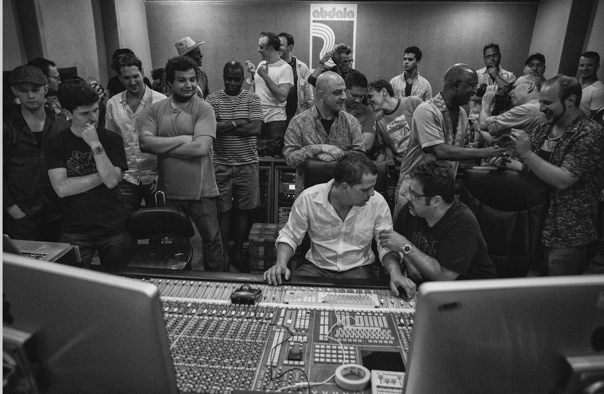 Recording Cuba - The Conversation Continues at the Abadala Studios in Havana. (Photo: Kabir Sehgal)
