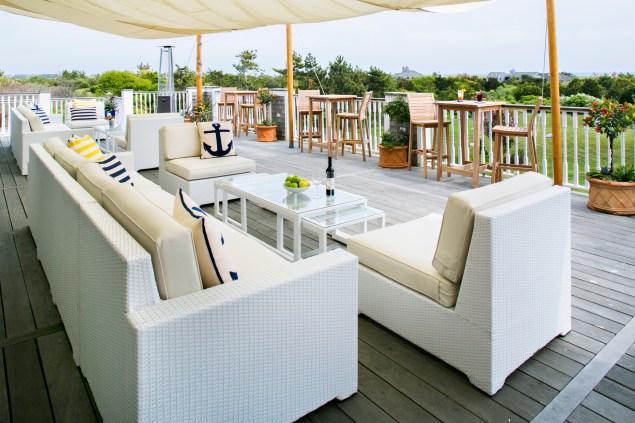 The restaurant deck at the Winnetu Oceanside Resort on Martha's Vineyard. (Photo: Winnetu)