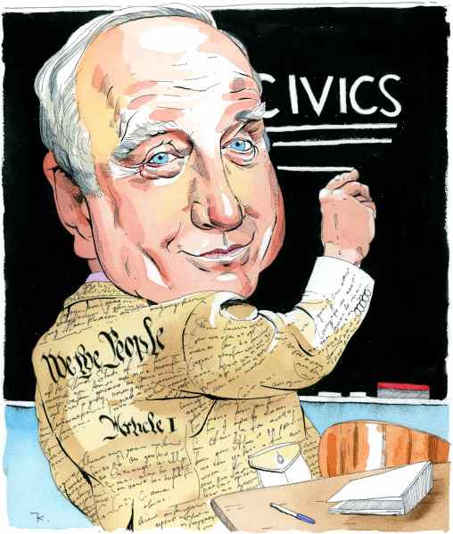 Illustration of Richard Dreyfuss by Paul Kisselev
