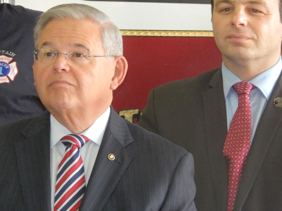 Sayegh, right, earlier today with U.S. Sen Bob Menendez.
