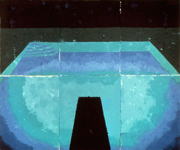 Schwimmbad Mitternacht (Paper Pool 11), 1978 (Photo: Courtesy the artist's website).