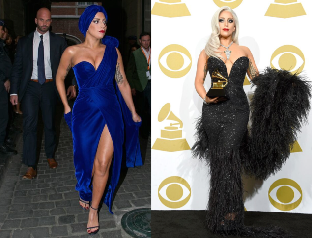 Two of Mr. Maxwell's creations for Lady Gaga (Photo: Courtesy)