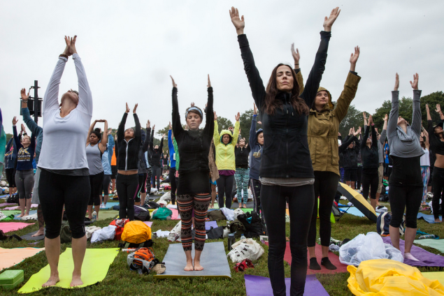 This unique triathlon features a 90-minute yoga class. (Photo: Flickr/Wanderlust Festival)