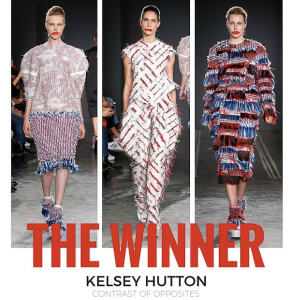 Winner of the Parsons/Pin & Tucker design contest, Kelsey Hutton's collection (Photo Courtesy of Pin & Tucker/Instagram)
