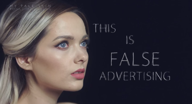 """Em is then shamed for her made-up face. Commenters said this is """"misleading,"""" """"false-advertising,"""" """"disgusting"""" and the reason behind their trust issues. (Screengrab: YouTube)"""