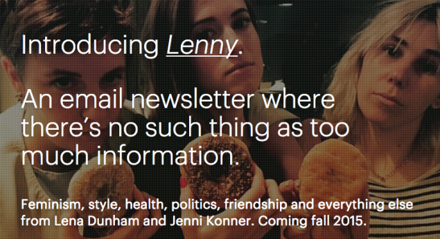 A screen shot of Lenny's homepage. (Image: Lennyletter.com)