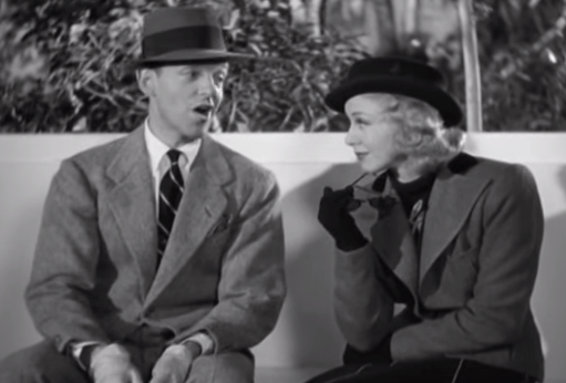 Fred Astaire and Ginger Rogers in Shall We Dance. (Screenshot via YouTube)