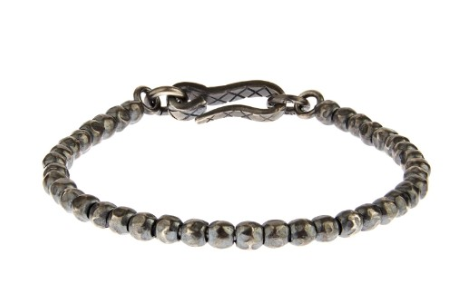 Bottega Veneta Oxidized-Silver Bracelet, $520, MatchesFashion.com