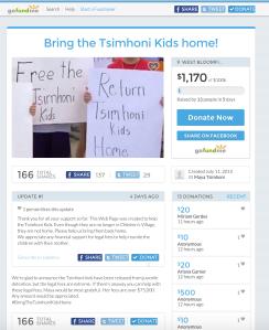 A fundraising page set up to assist Maya Tsimhoni has thus far raised $1170. (gofundme.com)