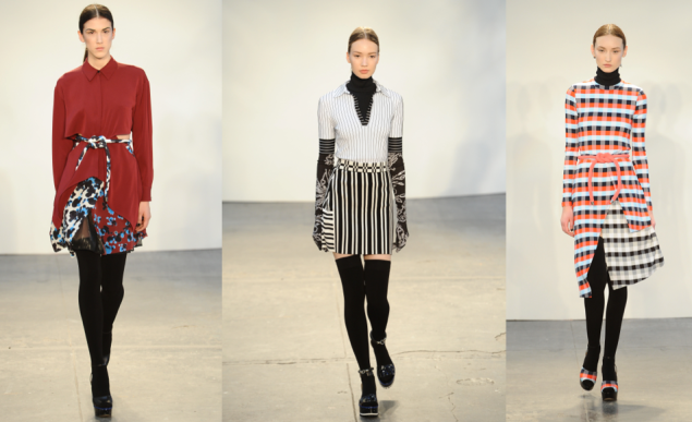 Three looks from Tanya Taylor's Fall 2015 collection (Photos: Getty Images)