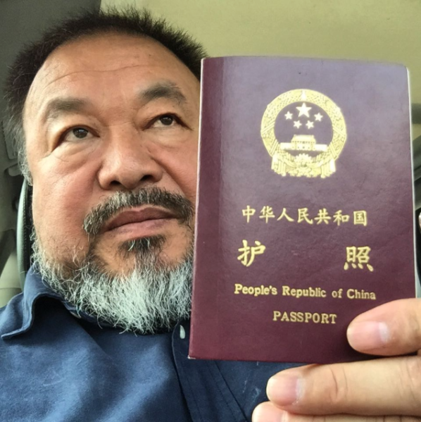 The artist posted a photo to his Instagram on Wednesday, July 22 to announce the news. (Photo: The artist's Instagram, @aiww)