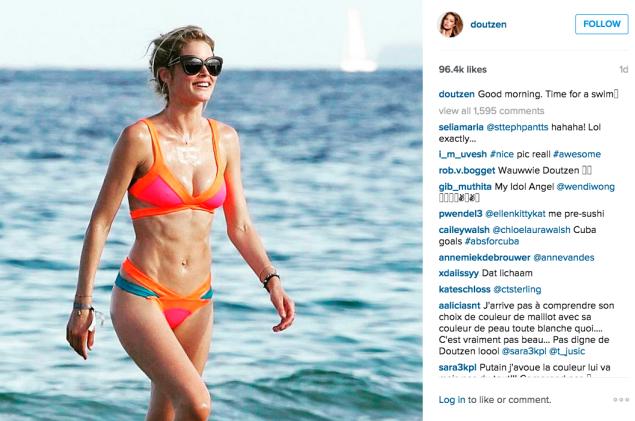 Ms. Kroes went for a swim. (Photo: Instagram/Doutzen Kroes)