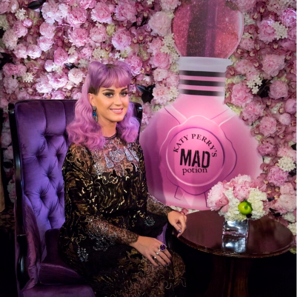 Ms. Perry's purple hair. (Photo: Instagram/Katy Perry)