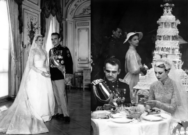 Photos from Grace Kelly and Prince Rainier III's wedding. (Photos: Getty Images)