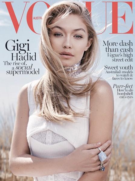 Gigi Hadid for Vogue Australia (Photo: via Vogue Australia Official Instagram)
