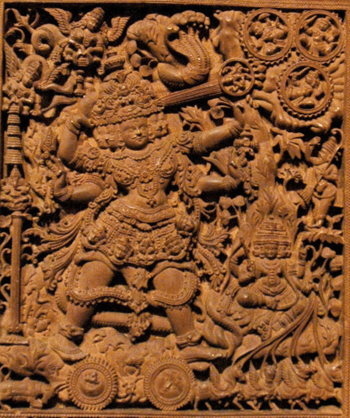 A carving of Shiva (not the statue in dispute).
