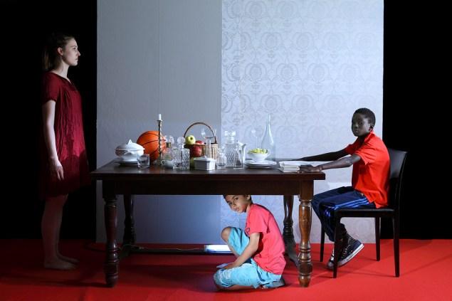 Halida Boughriet, Diner des anonymes, 2014. (Photo: Courtesy Richard Taittinger Gallery)