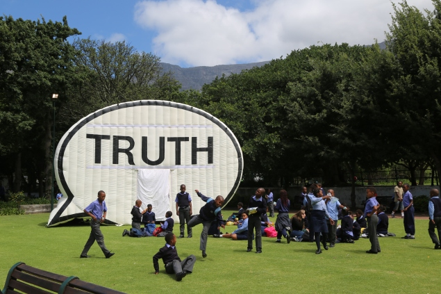 In Search of the Truth (The Truth Booth). (Photo: Courtesy of the Cause Collective)