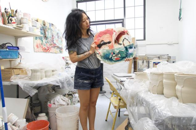 Jennie Jieun Lee in her Greenpoint studio. (Photo: Courtesy of the artist)
