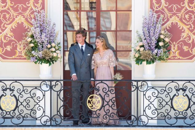 Ms. Borromeo wore a pale pink Valentino gown for her civil ceremony. (Photo: Valentino)