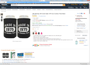 Who in their right mind would want to put this on their beer at their 40th birthday party? (Photo: Screenshot)