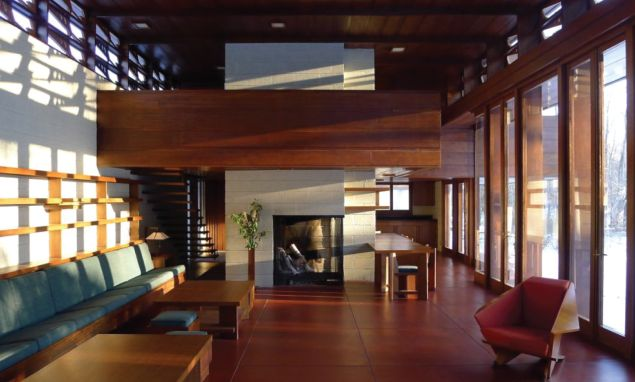 Inside Frank Lloyd Wright's Bachman Wilson House. (Photo: Courtesy of the Crystal Bridges Museum of American Art)