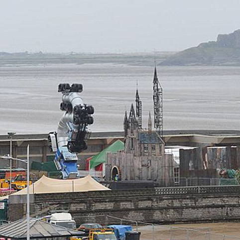 "Photos of what is suspected to be a covert exhibition called ""Dismaland"" by world famous street artist Banksy in the seaside town of Weston-super-mare in Bristol, England. (Photo: Instagram via @bjornonn)"