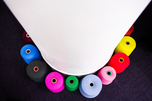 Spools of vibrant thread (Photo: Bryan Derballa)