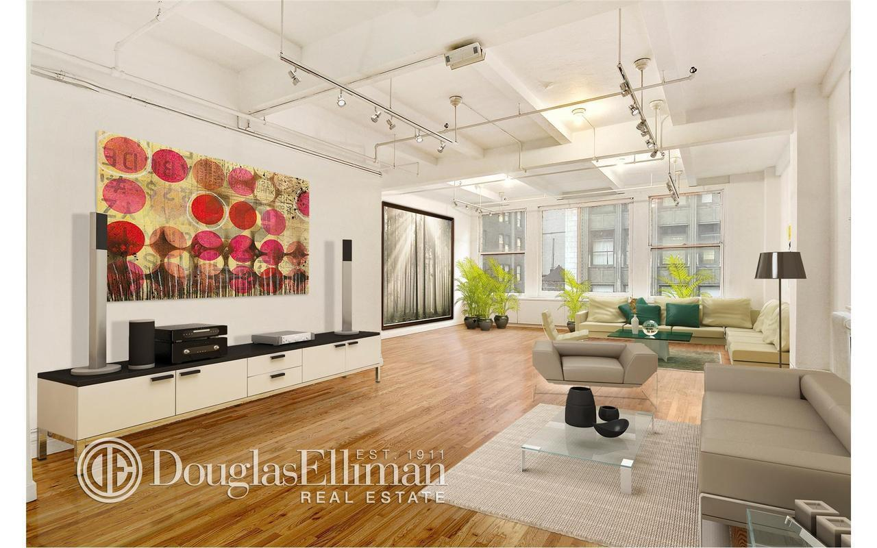 Here's what the loft could look like. (Douglas Elliman)